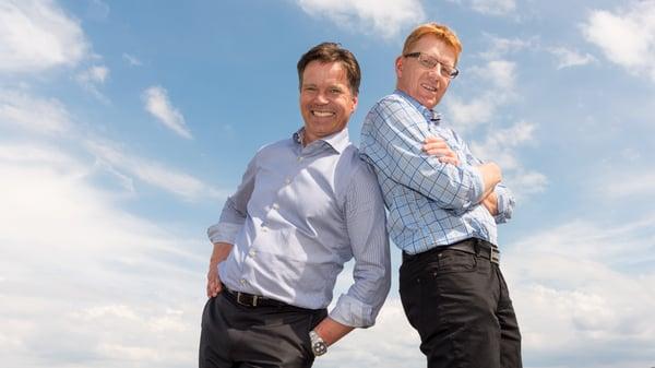 GOD STØTTE Børre Steen (til venstre) og hans Contendo har støttet seg til Tandem, og regnskapsfører Jan Ove Ulven, i forbindelse med overgangen til Tripletex