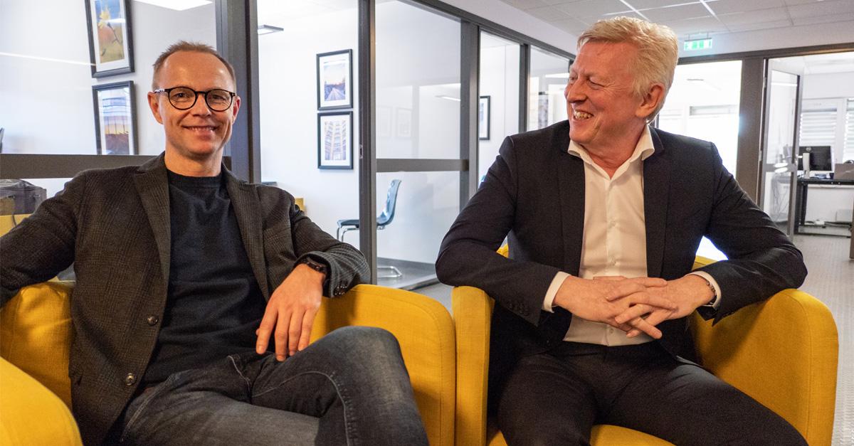 Nils Bernhard Nilssen i Tandem (t.v.) sammen med Einar Gynnild i Business Analyze.